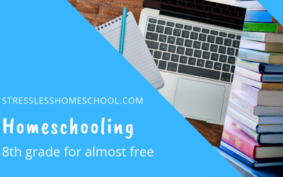 Homeschooling 8th grade for almost free